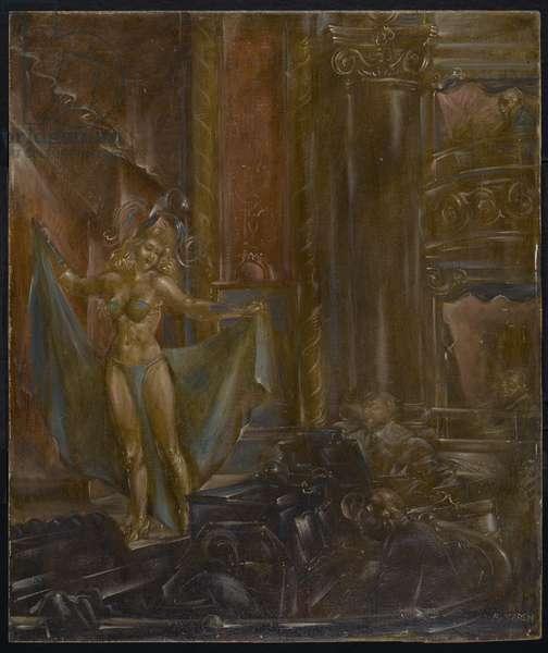 Burlesque, 1946 (egg tempera on masonite)