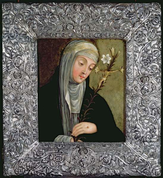 St. Catherine of Siena (oil on copper)