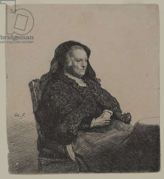 Rembrandt's Mother, c.1631 (etching on laid paper)