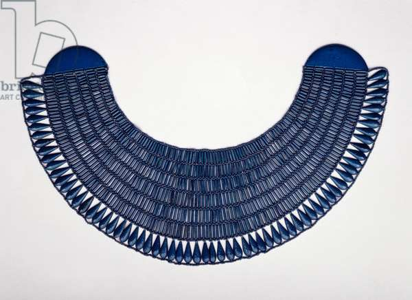 Wesekh collar, possibly from Thebes, c.1336-1295 (faience)