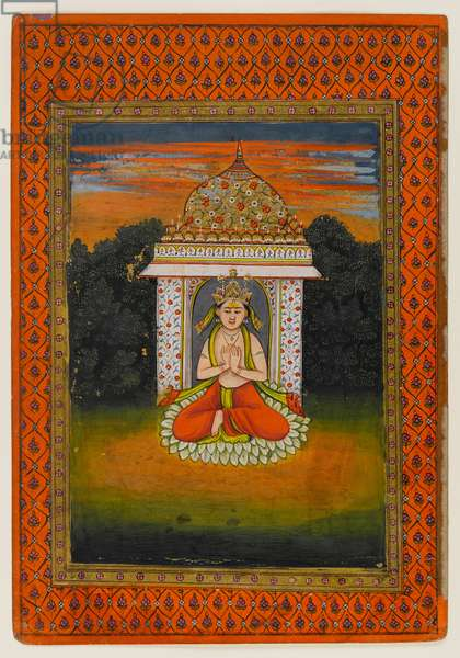 Miniature of an enshrined deity, first half of the 18th century (w/c on paper)