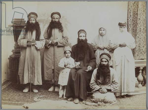 A Family of Dervishes (silver albumen photo)