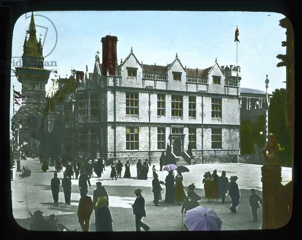 Paris Exposition: Hungarian Pavilion, Paris, France, 1900 (lantern slide)
