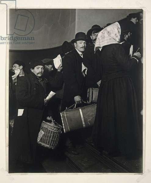 Climbing into the Promised Land, Ellis Island, 1908 (gelatin silver photo)