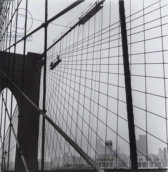 Brooklyn Bridge, 1946 (gelatin silver print)