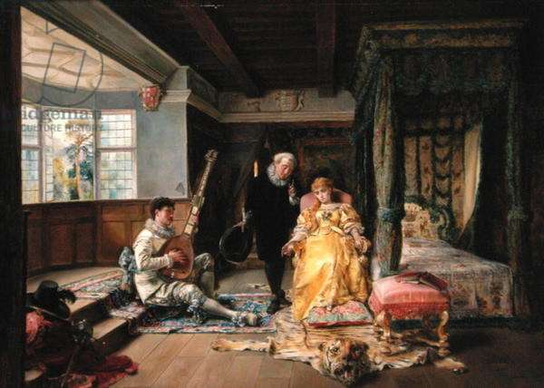 The Physician's Visit, 1881 (oil on panel)