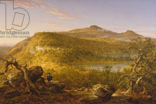 A View of the Two Lakes and Mountain House, Catskill Mountains, 1844 (oil on canvas)