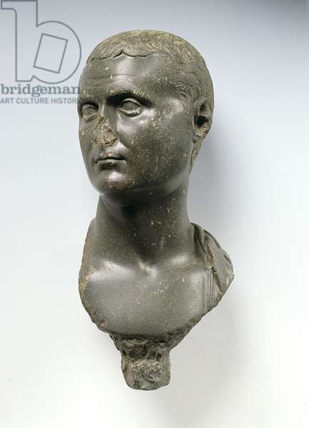 Bust of a Roman Nobleman, said to be Mark Anthony (c.82-30BC), possibly from Alexandria, Egypt, 50 BC - AD 50 (schist)