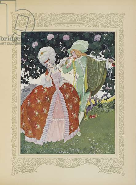 What! A page, cried the Princess, a page has the audacity to tell me he loves me!, illustration from 'Contes du Temps Jadis', or 'Tales from Times Past', p.66, 1912 (colour litho)