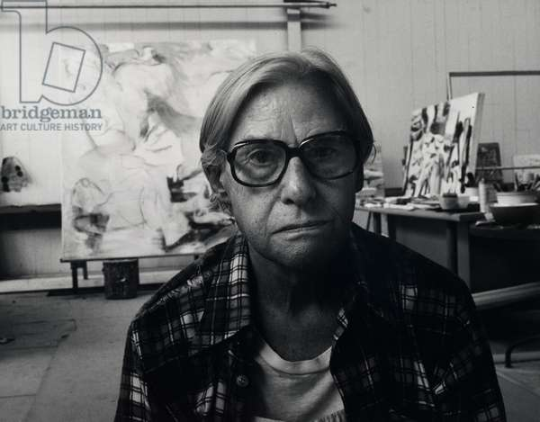 Willem de Kooning (gelatin silver photo)