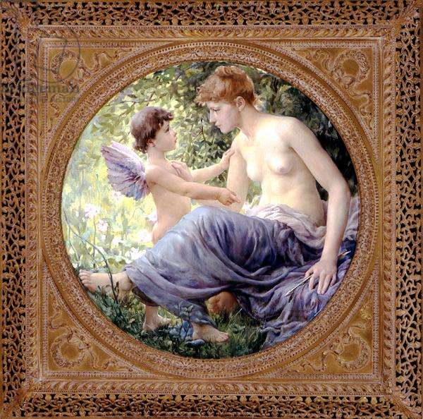 Love Disarmed, 1889 (oil on panel)