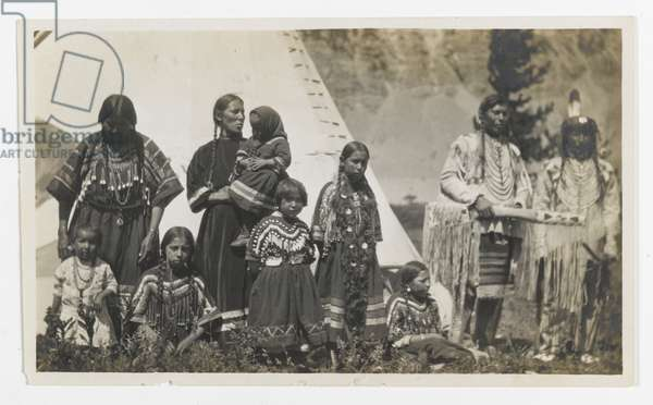 Untitled (Family Group of Two Men, Two Women, and Five Girls), c.1900 (gelatin silver print)