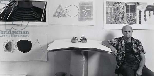 James Rosenquist, 1980 (gelatin silver photo)