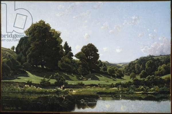 A Meadow in the Bourbonnais, Morning (Une Prairie du Bourbonnais, par un effet de matin), 1876 (oil on canvas)