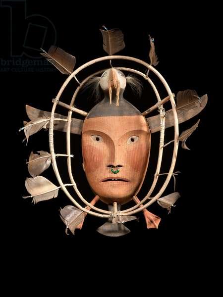 Element Hoop Mask, Nunivak, Bearing Sea, Alaska, c.1890 (wood & pigment)