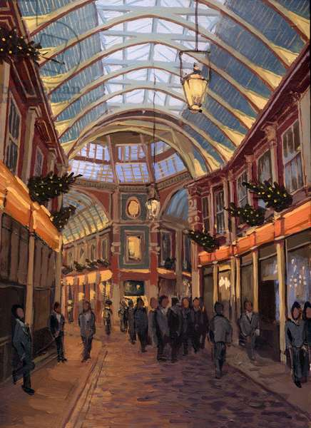 Leadenhall Market, 2006 (acrylic on board)