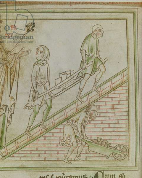 King Offa directs the building of St Albans Church, c.1250
