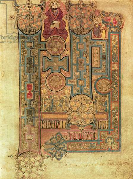MS 58 fol.292r Opening words of the Gospel of St. John, from the Book of Kells, c.800 (vellum)