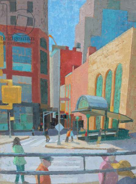 Tribeca Crossing II, 2015 (oil on gesso panel)