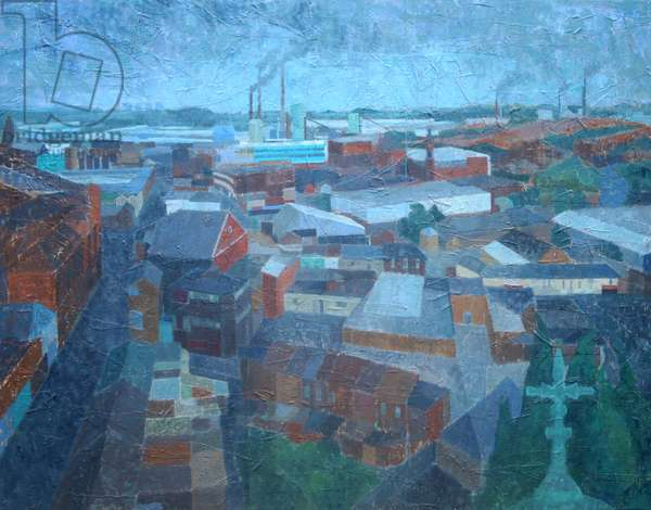 St Helens Glass Town, 2011 (oil on gesso panel)