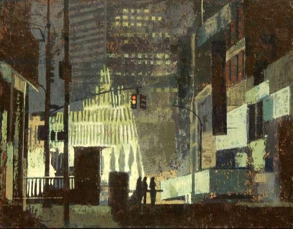 New York September 2001, 2009 (oil on gesso panel)