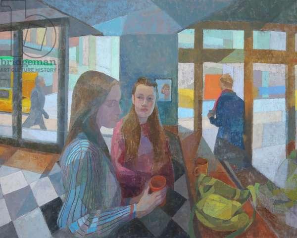 Sad Café, Coffee, 2016 (oil on gesso panel)