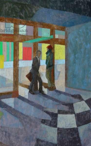 Sad Café, Doors, 2016 (oil on gesso panel)