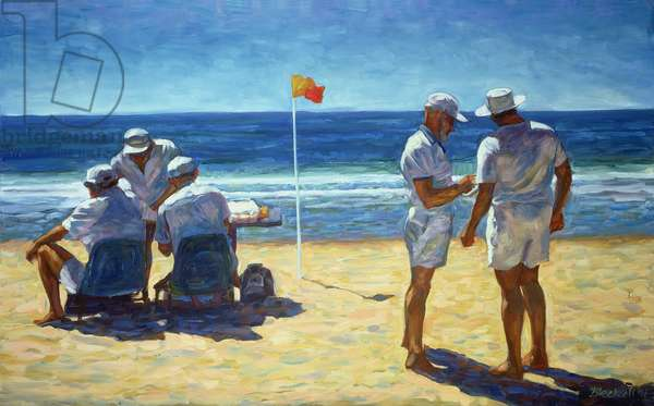 Judges at the Lifesaving Carnival, 1993 (oil on canvas)
