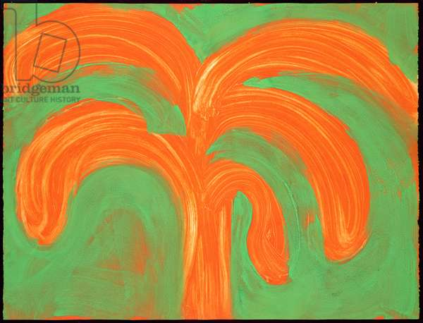 Indian Tree, 1990-91 (hand-coloured etching with carborundum)
