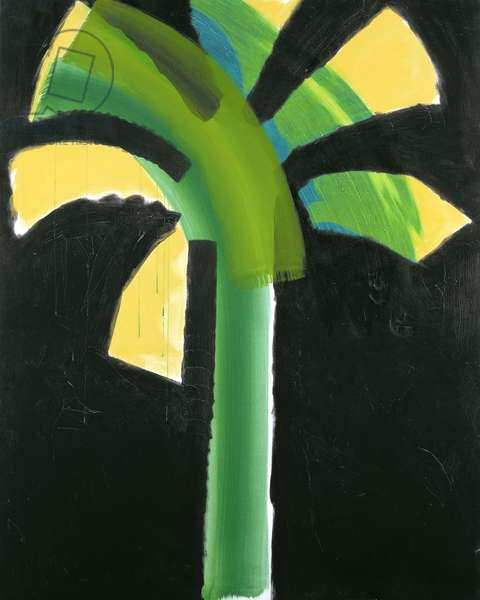 Night Palm, 1990-91 (hand-coloured etching with carborundum)