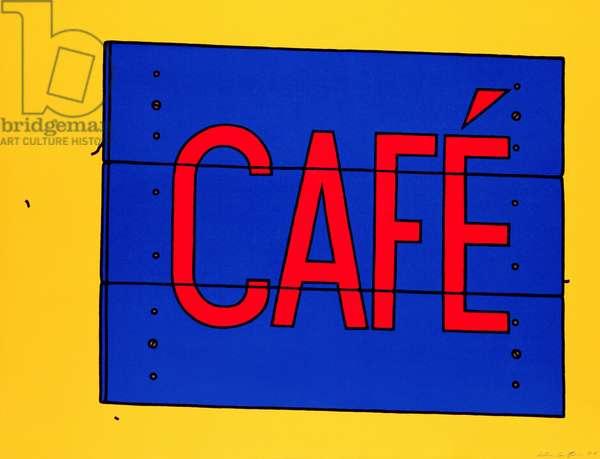 Cafe Sign, 1968 (screenprint)