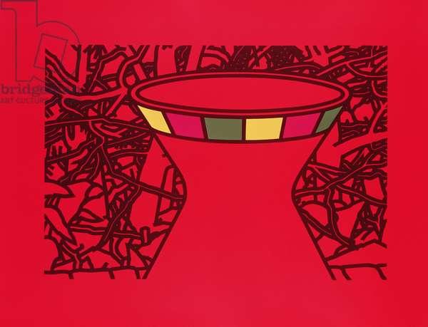 Terracotta Vase, 1975 (screenprint)
