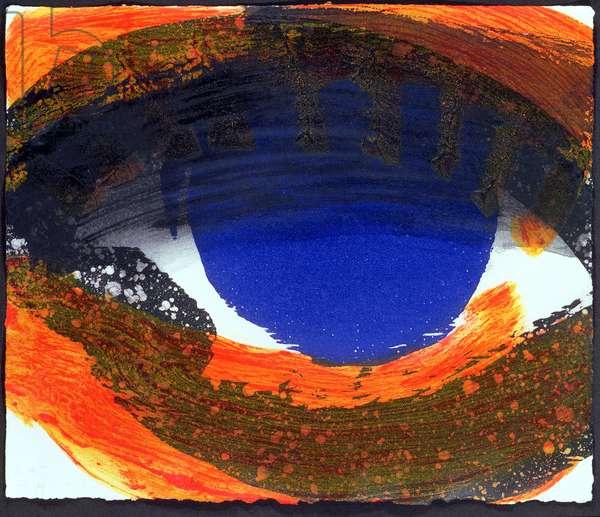 Eye, 2000 (hand-coloured etching with carborundum)