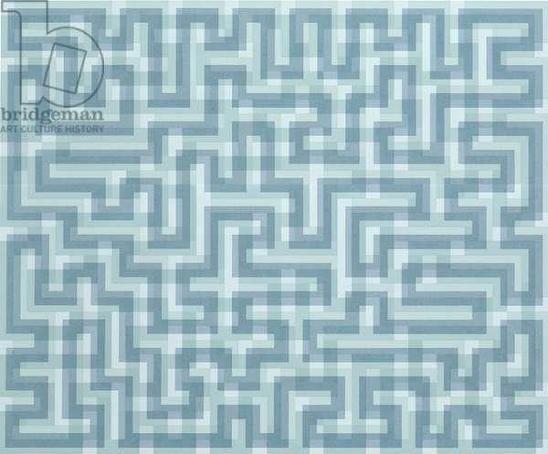 Blue Meander, 1970 (screenprint on paper)