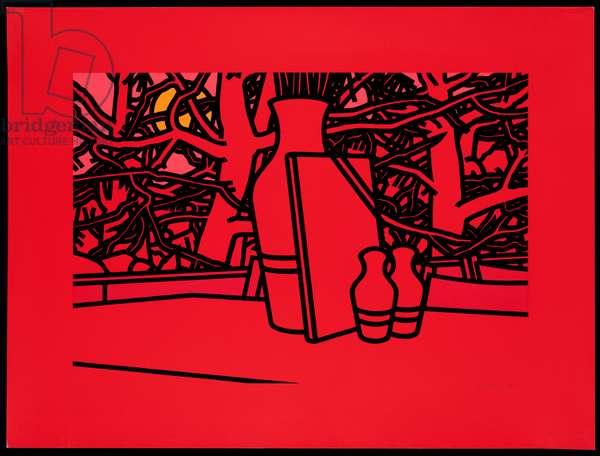 Evening Menu, 1975 (screenprint)