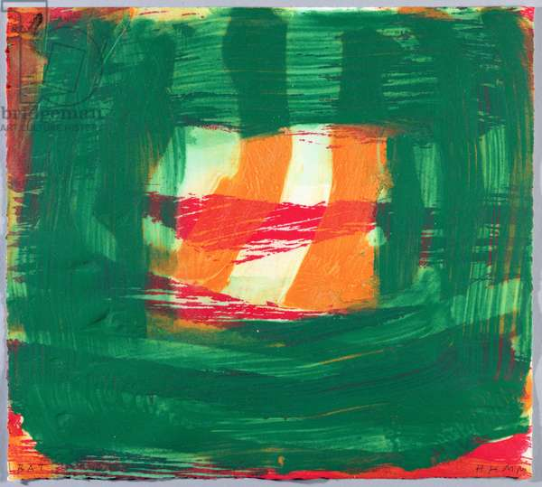 Home, 2000-02 (hand-painted etching with carborundum)