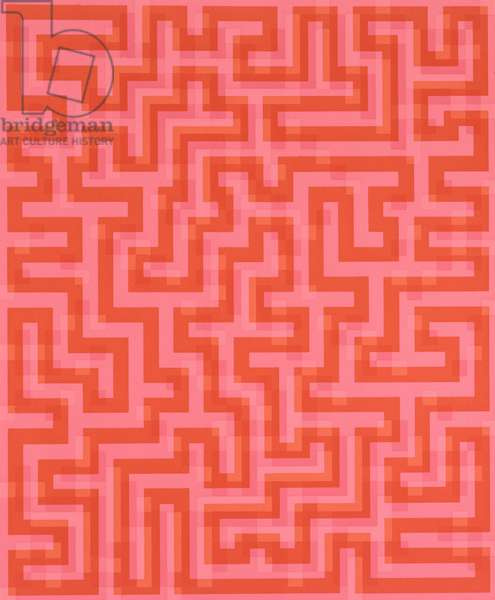 Red Meander, 1969 (screenprint on paper)
