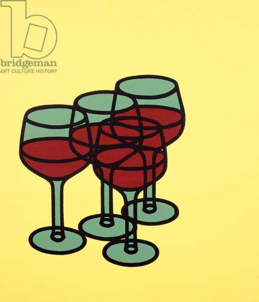 Wine Glasses, 1969 (screenprint)