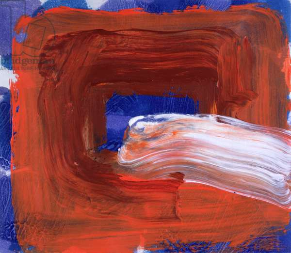 Cigarette, 2000-02 (hand-painted etching with carborundum)