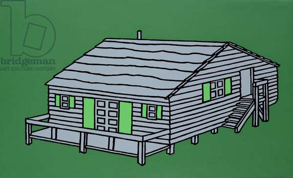 Weekend Cabin, 1967 (screenprint)