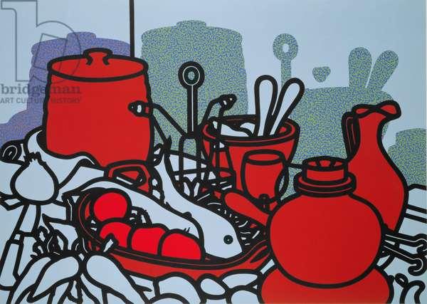 Glazed Earthenware, 1976 (screenprint)