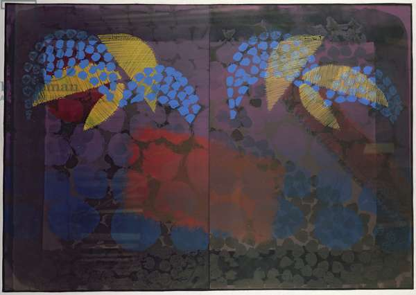 For Bernard Jacobson, 1977-79 (litho with hand colouring)