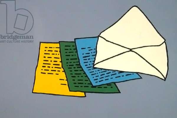 The Letter, 1967 (screenprint)
