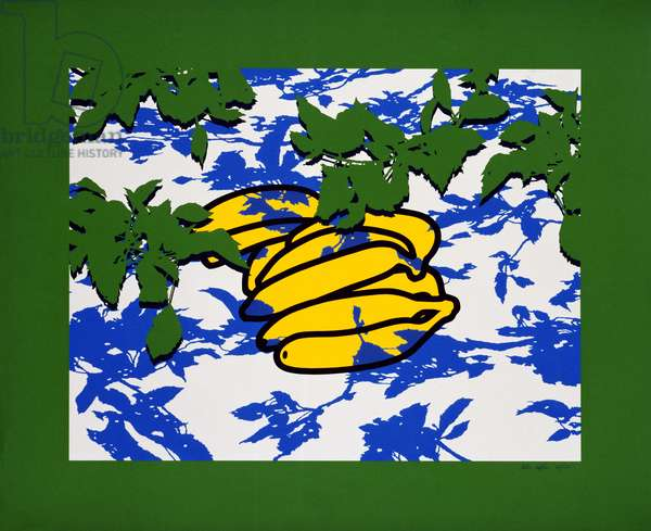 Bananas with Leaves, 1977 (screenprint)