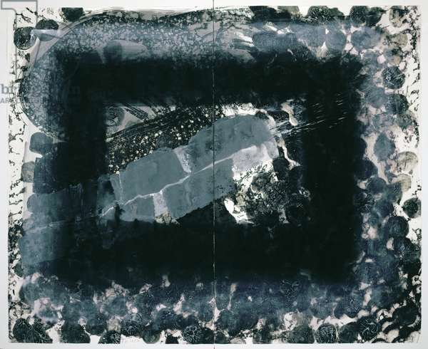 Venice, Night, 1995 (hand-painted diptych with etching, aquatint and carborundum)