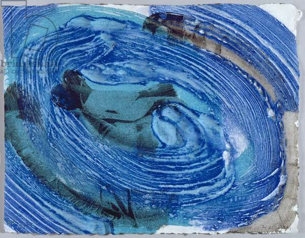 Tears, Idle Tears, 2000-02 (hand-coloured lift-ground etching with carborundum)