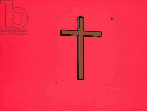 Crucifix, 1968 (screenprint)