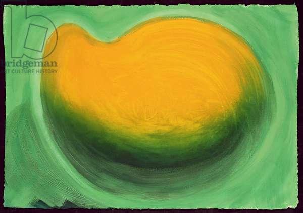 Mango, 1990-91 (hand-coloured etching with carborundum)
