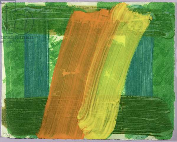Summer, 1997 (hand painted etching with carborundum)