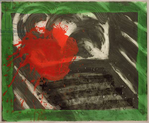 In an Empty Room, 1990-91 (hand-coloured etching with carborundum)
